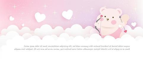 tarjeta de felicitación del día de san valentín. vector