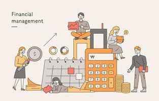 financial management banner. vector