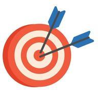 objetivo con vector icono de flecha