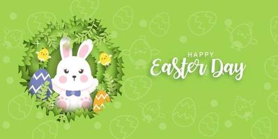 Easter day card . vector