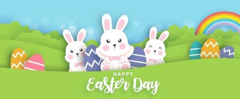 Easter day background. vector