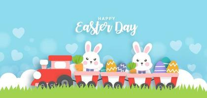 Easter day background . vector