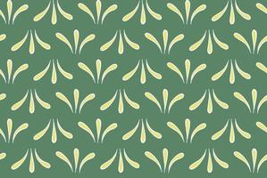 Vector texture background, seamless pattern. Hand drawn, green, yellow, white colors.