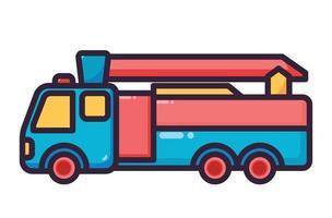 fire truck illustration colorfull vector