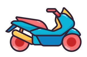 Motorcycle illustration colorfull