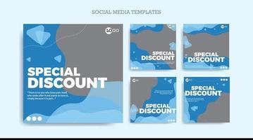 Set social media template modern design
