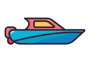 boat illustration full color