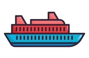 Ferry illustration fullcolor vector