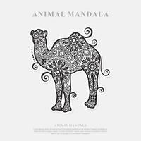 mandala de camello. elementos decorativos vintage. patrón oriental, ilustración vectorial. vector