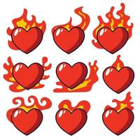 Valentines day sale backdrop with Heart Shaped Balloons. fire love hand vector