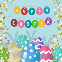 Easter Eggs with Floral Ornaments vector