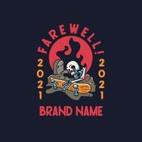 Skull paradise skeleton. skateboard