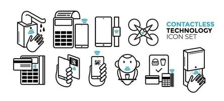 Contactless Technology Icon Set