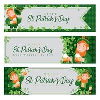 Leprechaun Banner Celebrating St.Patrick's Day vector
