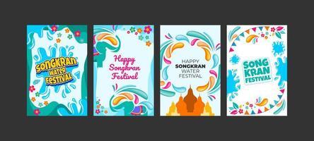 Happy Songkran Water Festival Card vector