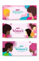 Woman History Month with Difference Character vector