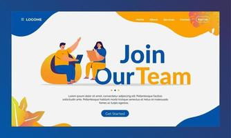join our team, recruitment of new employees landing page concept vector