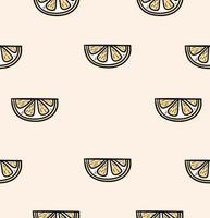slice a orange seamless pattern vector