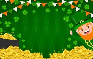 Leprechaun is Waving Hand to Celebrate St. Patrick's Day vector