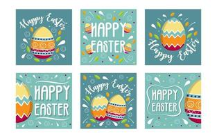 Easter Egg Set for Social Media Feed vector