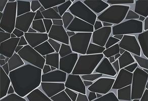 Papel pintado de textura de grava negra. ilustración vectorial eps10 vector