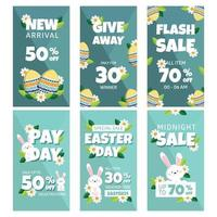 Happy Easter Promotion for Insta Story vector