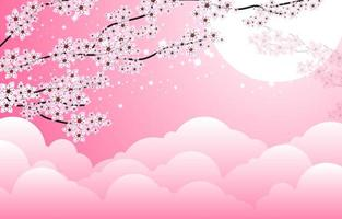 Floral Cherry Blossom Design vector
