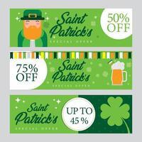 banner de venta para st. día de San Patricio vector