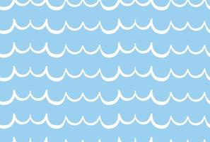 Vector texture background, seamless pattern. Hand drawn, blue, white colors.