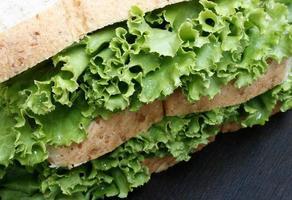 Lettuce and bread photo