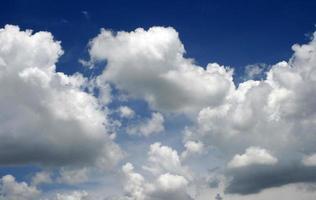 Fluffy idyllic clouds photo