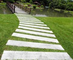 Walkway to bridge