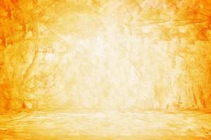 Fondo de pared naranja para presentación. foto