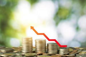 financiar y ahorrar dinero concepto foto