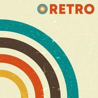 Retro grunge texture background with vintage colored lines. Vector illustration