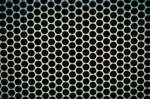 Black polka dots pattern photo