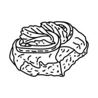 Caprese Steak Icon. Doodle Hand Drawn or Outline Icon Style vector