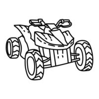 ATV Beach Icon. Doodle Hand Drawn or Outline Icon Style vector