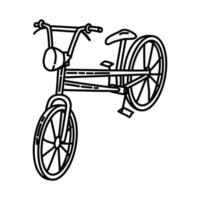 Bicycle Beach Icon. Doodle Hand Drawn or Outline Icon Style vector