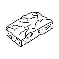 Focaccia Icon. Doodle Hand Drawn or Outline Icon Style vector