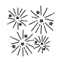 Firecrackers Icon. Doodle Hand Drawn or Outline Icon Style vector