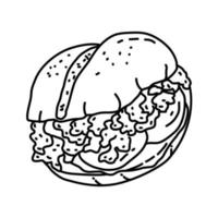Italian Sloppy Joes Icon. Doodle Hand Drawn or Outline Icon Style vector