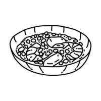Jambalaya Icon. Doodle Hand Drawn or Outline Icon Style vector