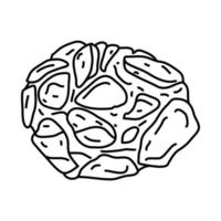 Crab Cakes Icon. Doodle Hand Drawn or Outline Icon Style vector