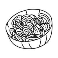 Moules Marinieres Icon. Doodle Hand Drawn or Outline Icon Style vector