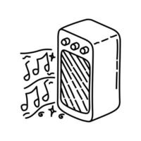 Lovely Music Icon. Doodle Hand Drawn or Outline Icon Style vector