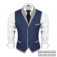 Mens Business Suit with Black Tie vector