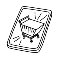 Retail Icon. Doodle Hand Drawn or Outline Icon Style vector
