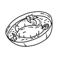 Quenelles de brochet Icon. Doodle Hand Drawn or Outline Icon Style vector