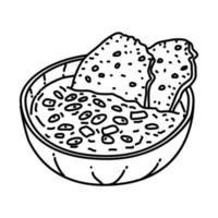 Ribollita Icon. Doodle Hand Drawn or Outline Icon Style vector